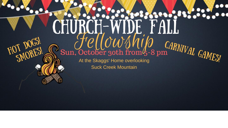 Church-Wide Fall Fellowship - Oct 30 2016 5:00 PM