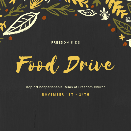 Freedom Kids Food Drive