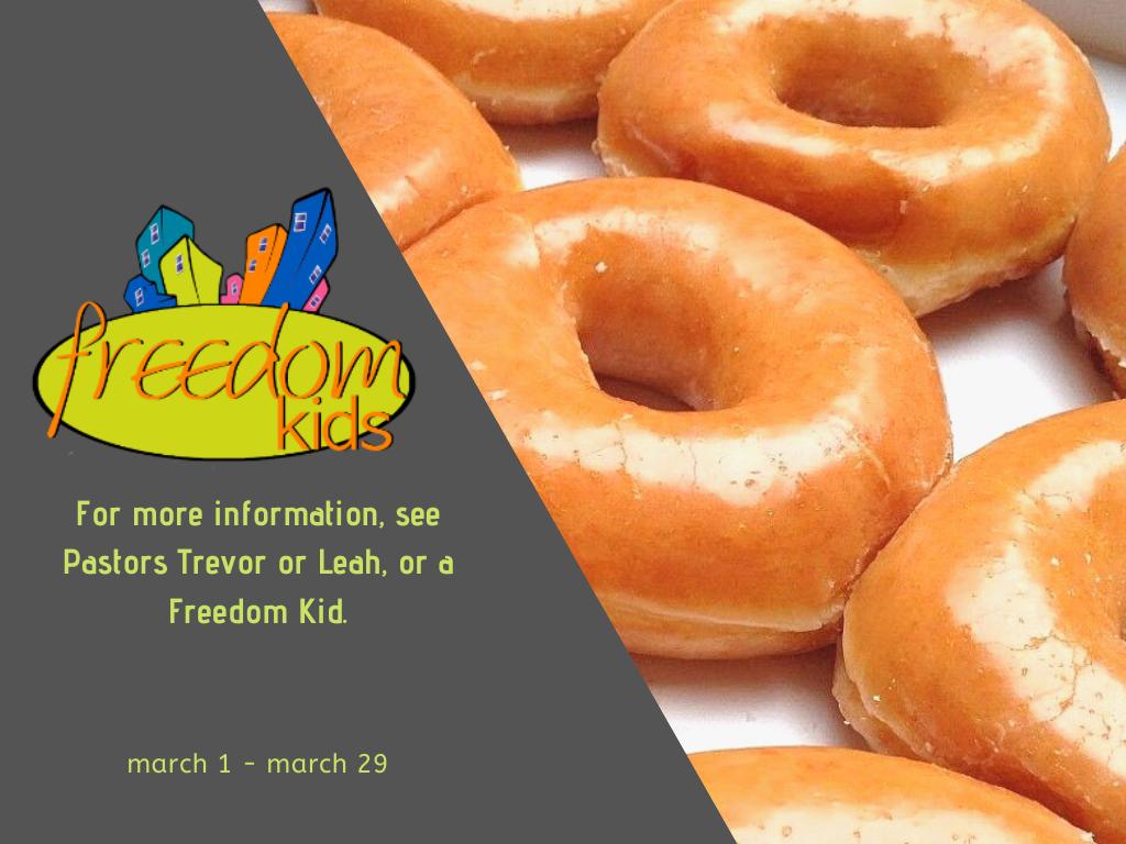 Freedom Kids Krispy Kreme Fundraiser